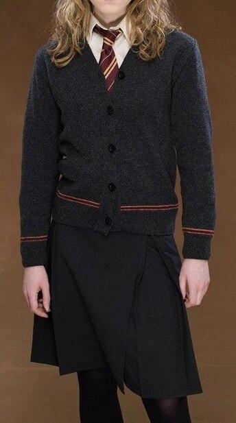 Livraison Gratuite Harry Gryffondor Hermione Granger Aîné Cosplay Cardigan Jupe Uniforme Sur Mesure pour Halloween et De Noël