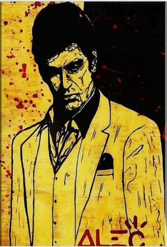 100% peinture à l'huile à la main monopole peinture à l'huile sur toile parrain Robert De Niro Don Corleone