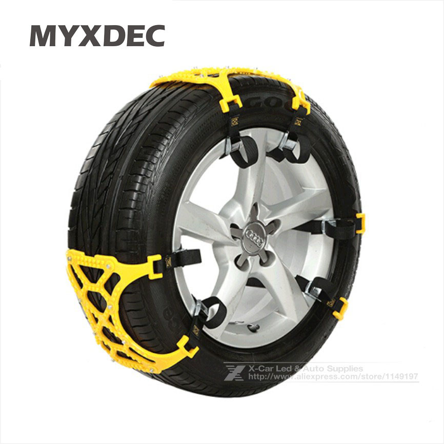 3Pcs/Lot TPU Snow Chains Universal Car Suit 165-265mm Tyre Winter Roadway Safety Tire Chains Snow Climbing Mud Ground Anti Slip