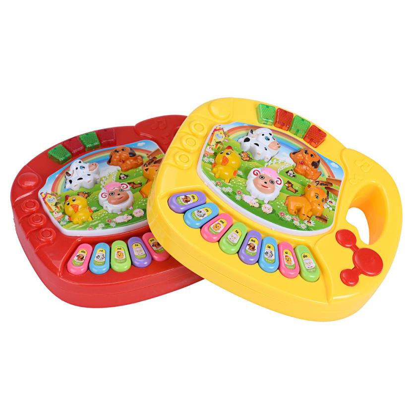 Baby Kids Musical Educational Animal Farm Piano Developmental Music font b Toy b font bottom has