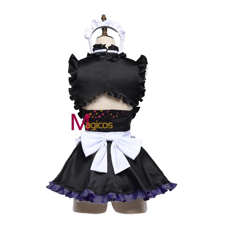 Anime Fate Grand Order FGO Mash Kyrielight Cosplay Costume Matthew Sexy Tube Tops Maid Apron Dress For Women