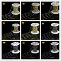 5 М/лот 10 Цвет 4 мм Новый Проволокой Завернутые Пистолет Черный Покрытием цепи Природного Стекла Круглые Бусины Монет Ссылка Розария Цепи Ювелирных Изделий LS052