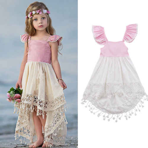 1a4538810b4d9 New Princes Girl Tassel Dress Baby Girl Summer Swing Tutu Dress Children  Girl Wedding Party Dresses Formal Sundress 1-6Y