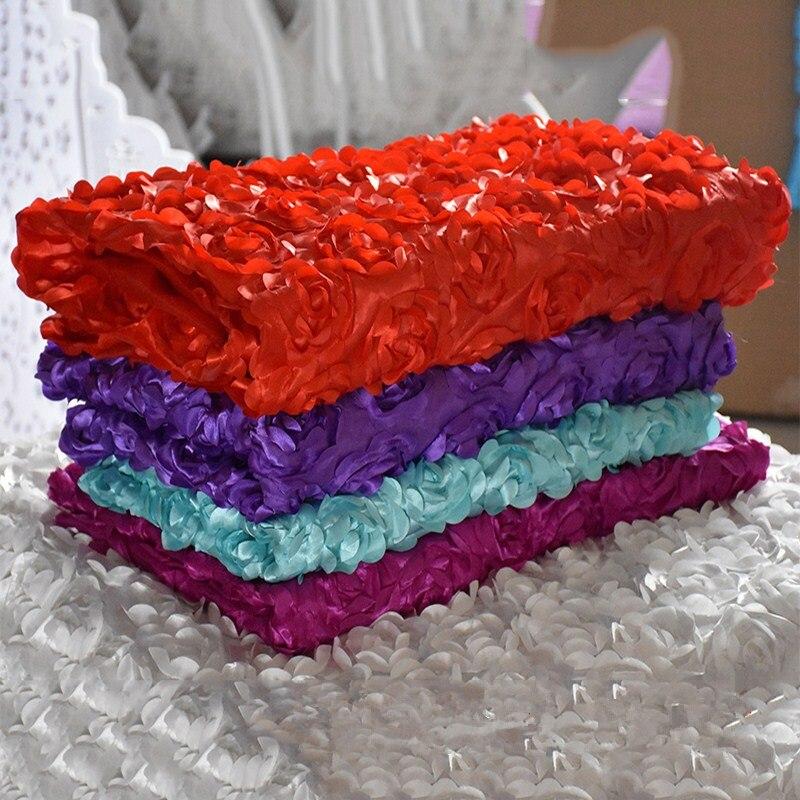 3D Rose Blanc De Mariage Tissu Tapis Partie Décoration Tapis Coureur T Station Tapis Couverture De Table Bébé accessoires de Photographie Toile de Fond