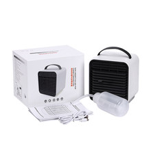2019 Baru Desktop Air Cooler Fan Negatif Ion Air Ruang Pribadi Cooler Portable Air Conditioner 2000 M Ah(China)