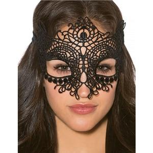 Черная Очаровательная кружевная маска на глаза ко Дню Святого Валентина интимные аксессуары женская маска для Хэллоуина интимные товары CS80609