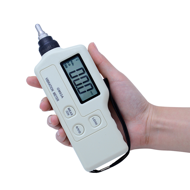 GM63A Vibration Sensor Meter Tester Portable lcd vibration meter Vibrometer Analyzer Acceleration Mechanical fault detection vibration meter speed accelerometer displacement measurement 0 1 to 199 9m s2 portable digital vibrometer analyzer tester