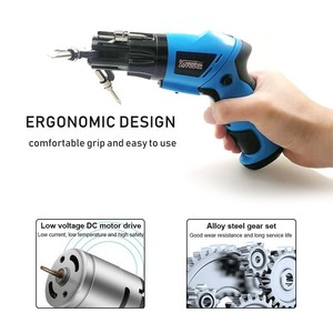 Image 4 - 6 In1 Mini 6V Battery Cordless Electric Screwdriver  Rotary Screw Driver With Work Light And 14 Bits For Household Maintenance