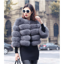 2016 new Fashion Real Genuine fox fur overcoat coats Jackets Women Natural Fur outwear winter warm clothing fashion party gift