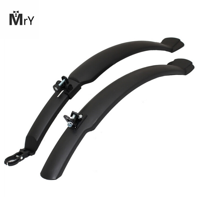 MrY 2PCS Cycling Bike Plastic MTB Mudguard Quick Release Bike Fenders Road Front Mountain Bike Rear Defender Bicycle Accessories