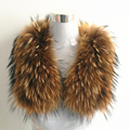 Real Raccoon Fur Collar Ring Scarf Female 80cm Long 100% Natural Genuine Raccoon Fur Collar for Down Jacket Clothing Accessories