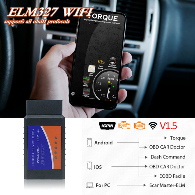 Best Offers OBD2 Auto Car WIFI Interface Diagnostic Tool Scanner For Android/IOS Windows