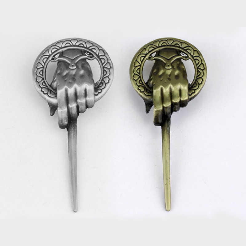 Hot Canção de Gelo e Fogo Game of Thrones Mão do Rei Broche Emblema Do Pino de Lapela Inspirado Authentic Prop broches de Jóias Filme
