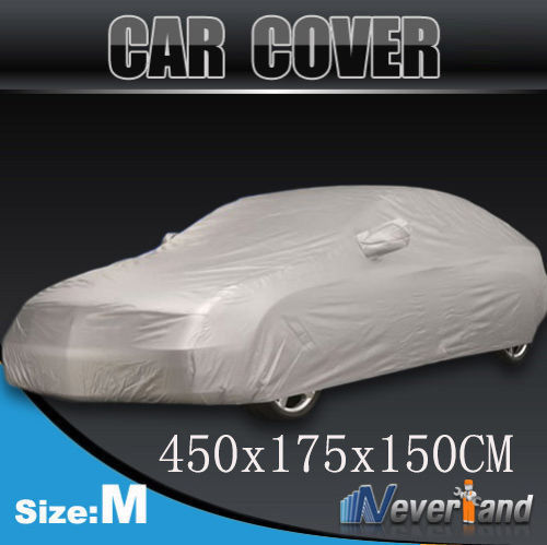 Hot sale Outdoor Full Car Cover Sun UV Snow Dust Resistant Protection Size M Car covers