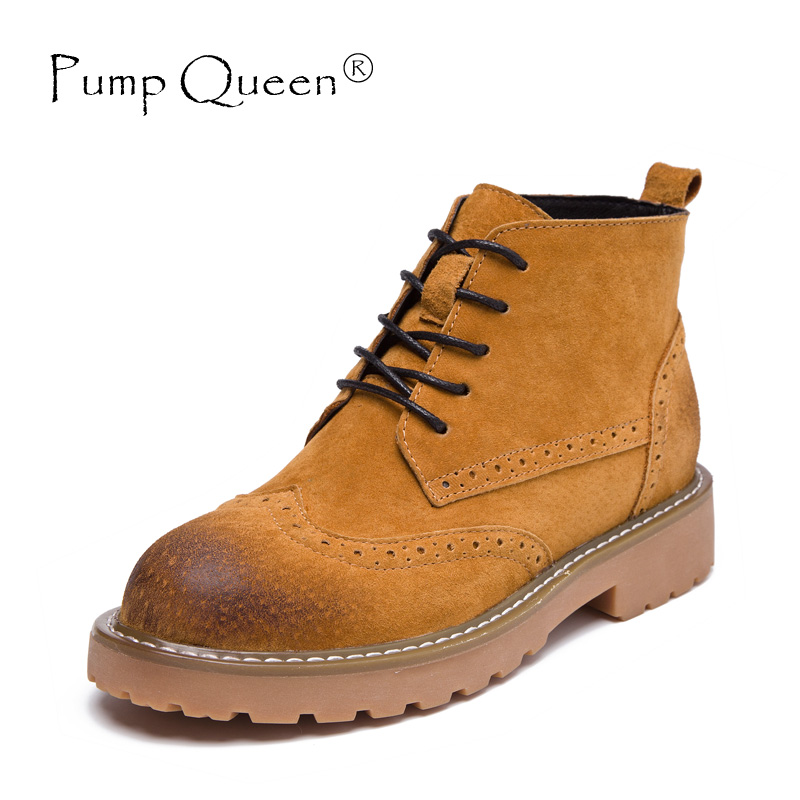 Autumn Winter Woman Shoes Genuine Leather Ankle Boots Sewing Round Toe Lace Up Laces Female Shoes High Heels Basic Army Green women s boots genuine leather ankle boots round toe lace up woman casual shoes with without fur autumn winter boots 568 6
