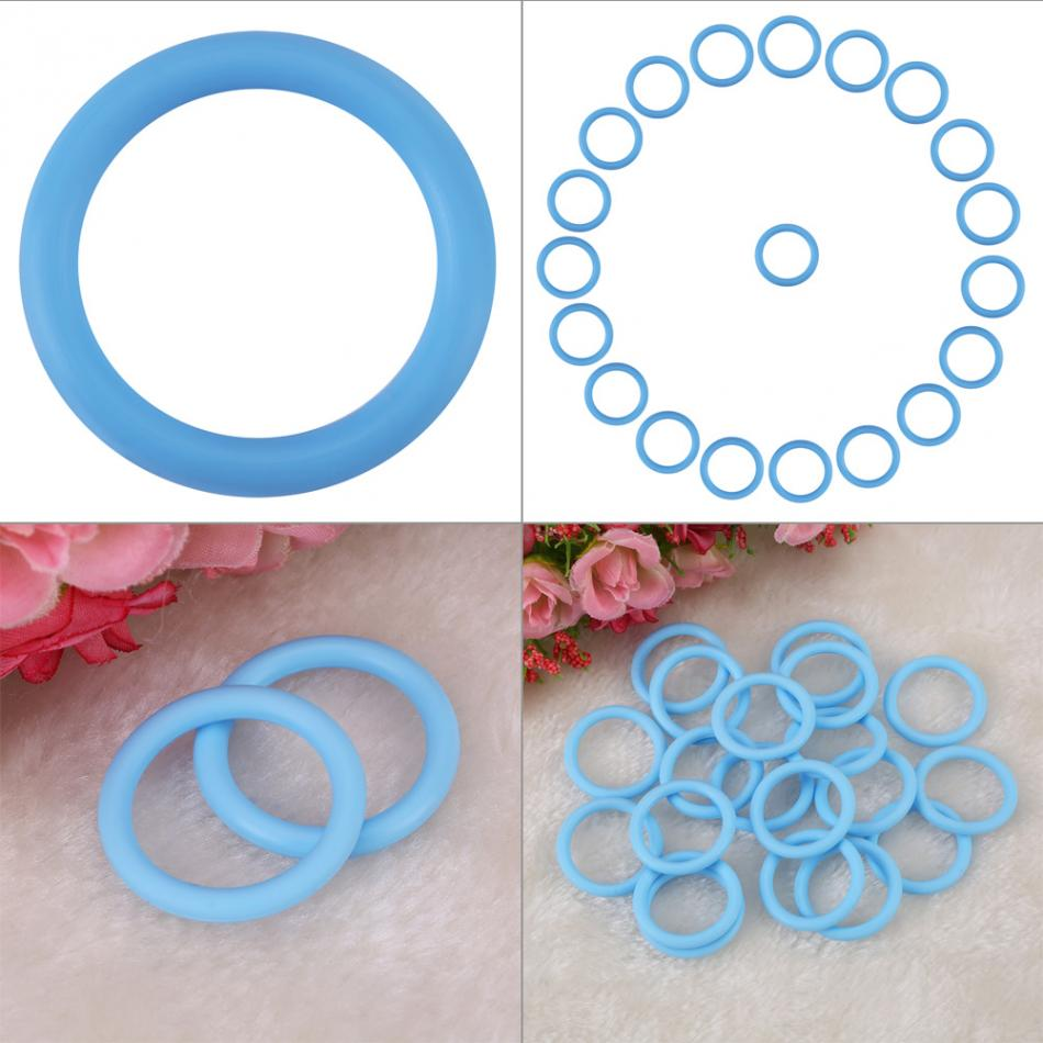 20Pcs//Set O-Rings Soft Silicone Baby Dummy Pacifier Chain Clips Adapter Holder