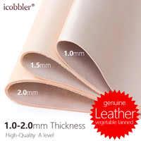 Grosor de 1,0-2,0mm, cuero genuino de vaca Natural cuero de vaca Real para la fabricación de cinturones carteras monederos zapatos bolsa y sofá Material de cuero
