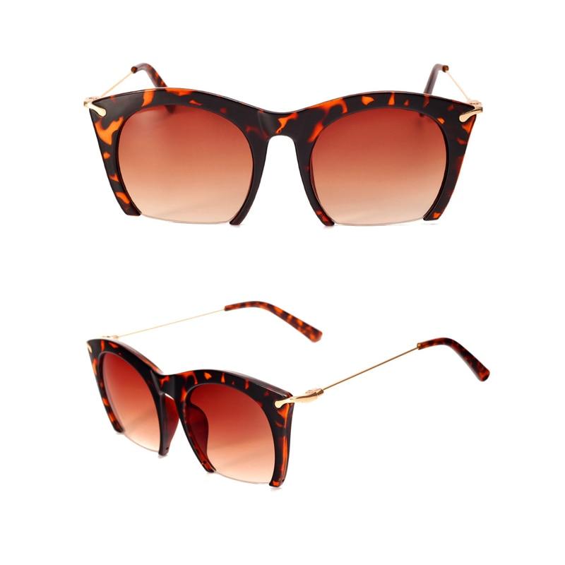 7f21e3b86c Lujo diseñador de marca Gato ojo Gafas de sol mujeres gradiente vendimia  sunglass Retro
