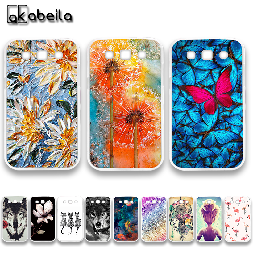 AKABEILA Soft TPU Plastic Phone Cases For Samsung Galaxy Win I8552 GT-i8552 GT i8550 i8558 8552 Covers Nutella Flamingo Tetris ...