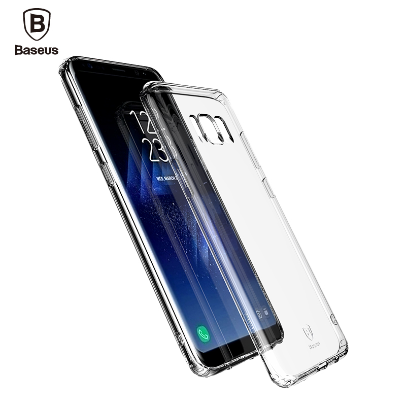 Baseus Brand Phone Cases For Samsung Galaxy S8 S8 plus Mobile phone case Silicone cover Hard Frosted PC Back phone Shell