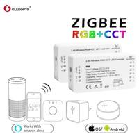 gledopto 1ID/2ID rgb+cct led controller ZIGBEE ZLL DC12 24V strip light controller rgbw/cw work whit echo plus smart app contro