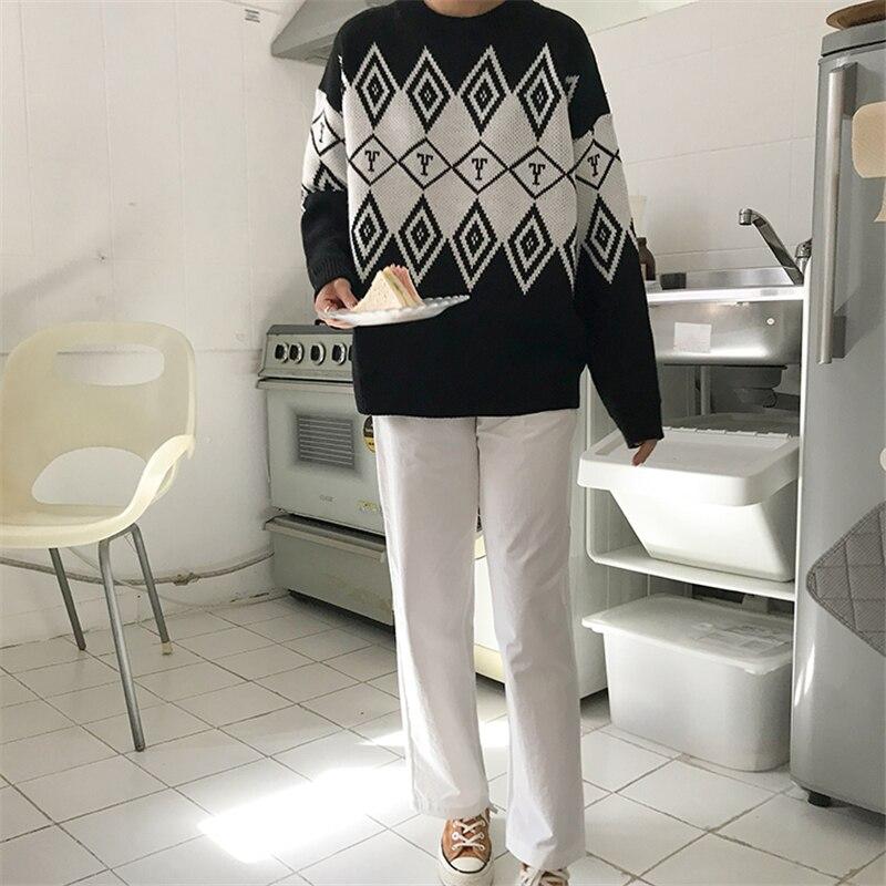 Femmes Oversize basique tricoté pull décontracté tricot pulls lâche tricoté pull 2018 chaud hiver pull pulls