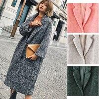 Cthink хорошее качество Утепленные длинные Шерстяное пальто Для женщин Теплый Тонкий девять четверти рукав сплошной Для женщин S верхняя одеж