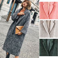 Cthink Good Quality Thicken Long Wool Coat Women Warm Slim Nine Quarter Sleeve Solid Womens Outerwear