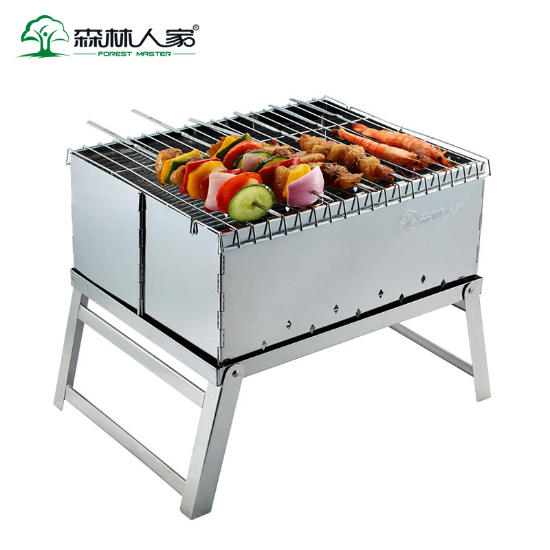Barbecue à charbon de bois pliant Portable léger Barbecue outils pour la cuisine en plein air Camping