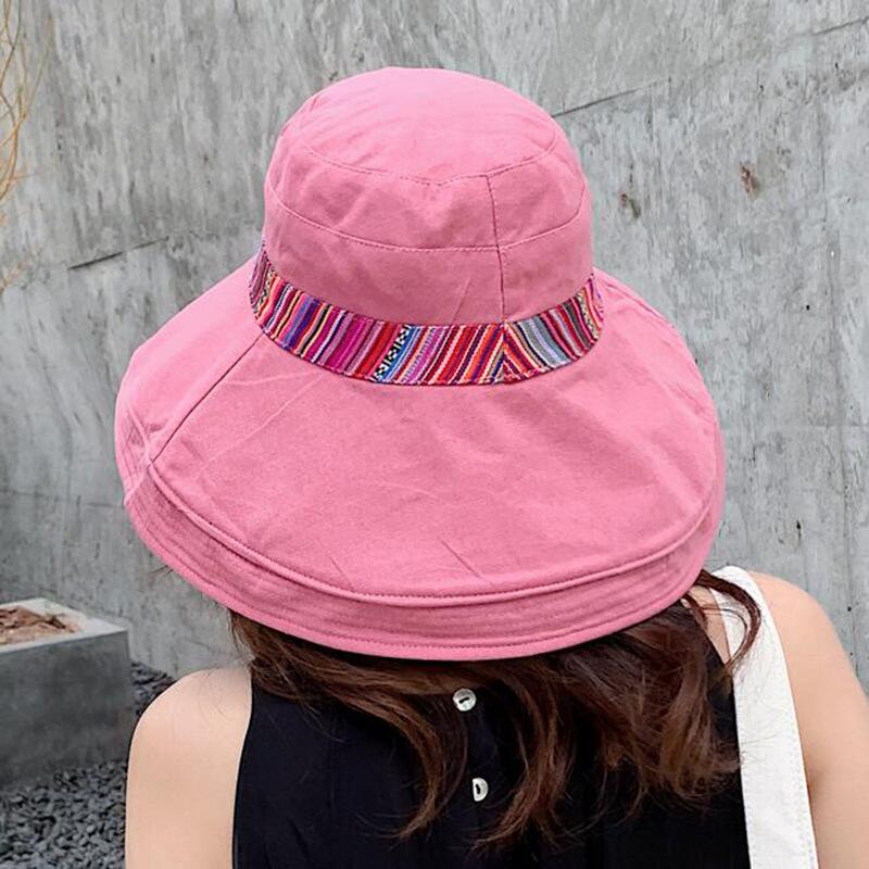 HTB1KqCQbznuK1RkSmFPq6AuzFXae - Double sided irregular Pattern Bucket Hat Women Summer Cotton Breathable Leisure Bob Caps Outdoor Sports Casual Dome Panama Cap