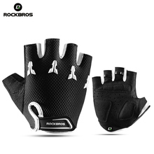 ROCKBROS Breathable Gel Pad Boys Girl Half Finger Gloves Cycling Bicycle Bike Kids Anti-stock Bike Sports Gloves Mitten rockbros cycling bike bicycle gloves half finger gel anti shock breathable elastic bicycle gloves mtb motorcycle sports gloves