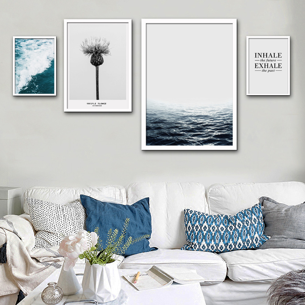 Nordic style Art Print Framed Canvas Painting Art Letters And ...