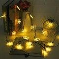 5 m del copo de nieve bling multicolor led del banquete de boda de hadas de luz 20 led string luz de navidad al aire libre decoración de la lámpara a prueba de agua