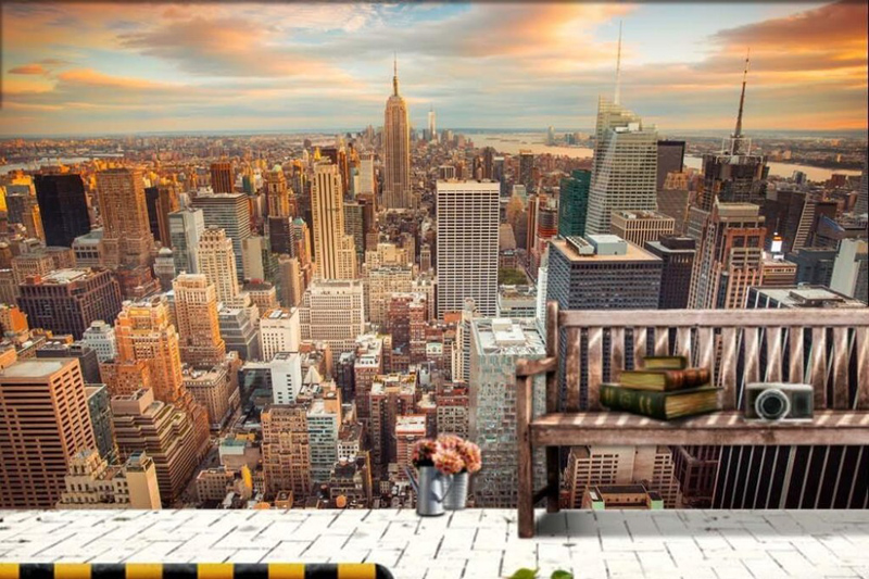 Aliexpresscom Buy Manhattan 3D wallpaper New York City Wall