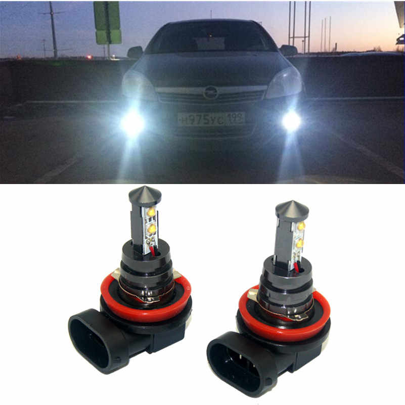 2x H11 H8 LED Car fog lights bulb  For OPEL Corsa Insignia Astra Antara Meriva Zafira Accessories