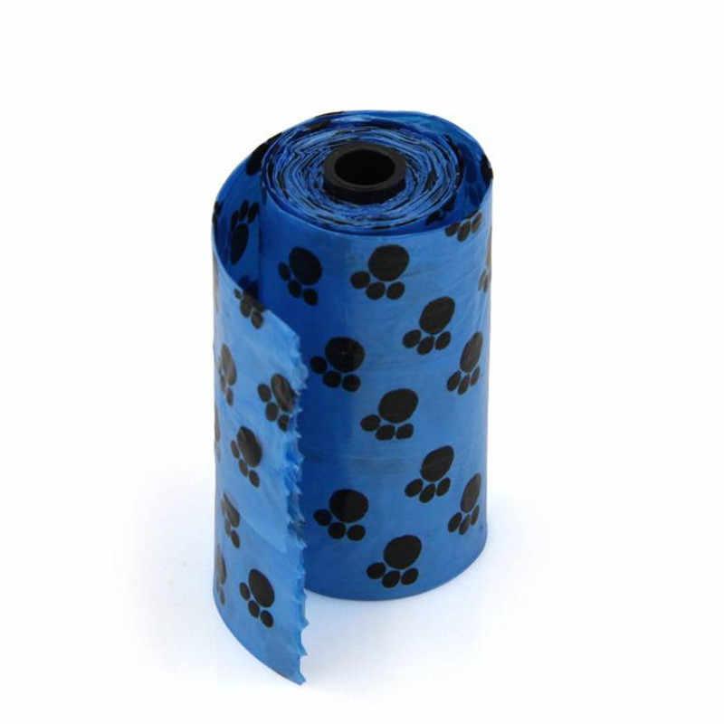 מתכלה לחיות מחמד כלב פסולת קקי תיק עם הדפסת דוגי גליל אחד/15 יחידות נקי פסולת לחיות מחמד שקיות קקי