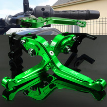 For Kawasaki ZX-6 ZX-6R ZX-6RR ZX 6 6R 6RR Aluminum Motorbike Motorcycle Brake Clutch Levers Foldable Extendable Adjustable