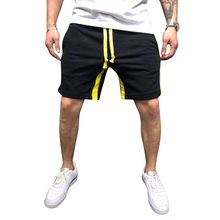 2019 Casual Summer Shorts Men Cotton Knee Length Shorts Mid Waist Casual Men Shorts Drawstring Masculina Male Clothing D40 недорого