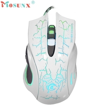 Beautiful Gift New White HOT 6D LED Optical USB Wired 5500 DPI PRO Game Mouse For PC Laptop Gaming Wholesale price May11