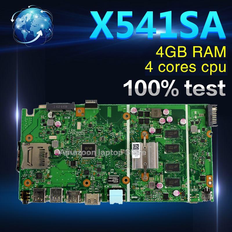 Amazoon X541SA motherboard  For ASUS X541 X541S X541SA laptop motherboard X541SA mainboard  test OK 4 cores cpu 4GB RAMAmazoon X541SA motherboard  For ASUS X541 X541S X541SA laptop motherboard X541SA mainboard  test OK 4 cores cpu 4GB RAM