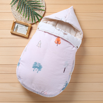 2019 new Baby Sleeping Bag Cotton Envelope Newborn Sleep Sack Anti-kick Infant Sleeping Bag Autumn Winter Stroller dile baby sleeping bag soft cotton autumn child sleep suit soft baby sleepsacks dogs clothes autumn winter