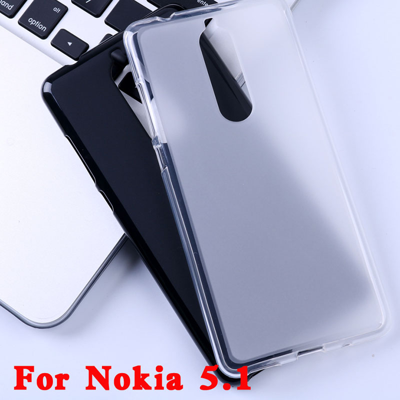 Soft TPU Cover <font><b>Cases</b></font> <font><b>For</b></font> <font><b>Nokia</b></font> 5.1 5 (2018) <font><b>TA</b></font>-1061 <font><b>TA</b></font>-<font><b>1075</b></font> <font><b>TA</b></font>-1076 <font><b>TA</b></font>-1081 <font><b>TA</b></font>-1088 5.5 in Back Phone Protective Silicon <font><b>Case</b></font> image