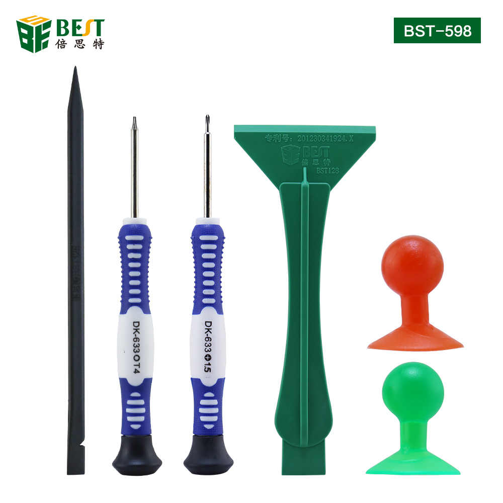 BST-598 6 in1 Professional Repair Tool Disassemble Tools Kit Opening Tool for Smartphone Tablet