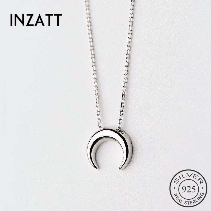 8de434080bf8 Cheap INZATT Real 925 Sterling Silver Classic Cute Moon gargantilla collar  joyería fina minimalista para mujeres
