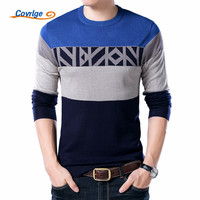 Covrlge 2017 Autumn New Mens Sweaters Round Collar Pullover Men Brand Clothing Knit Shirt Slimfit Fashion