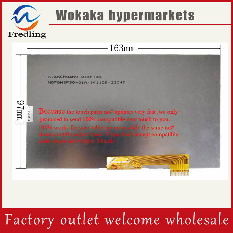 New LCD Display Matrix For 7 Haier Hit G700 Tablet 30pins inner LCD Screen panel glass Replacement Free Shipping