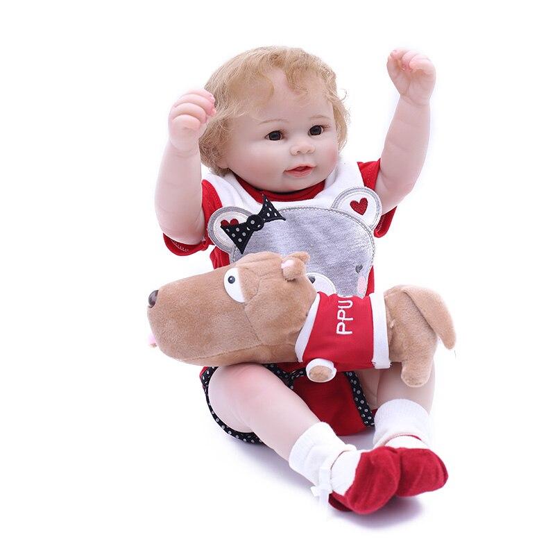 20 pouces 50 cm à la main réaliste simulation bébé poupée à vendre bébé boneca menino de silicone boneca enfants cadeaux d'anniversaire jouets