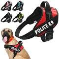 Reflexivo Arreios Cão de Estimação Colete Formação Para Pequenas Meduim Grande Com Quick Alavanca de Controle Da Polícia K9 Cão de Serviço