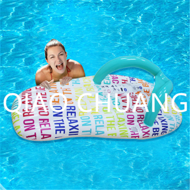 Wholesale 100pcs/lot Inflatable Slippers Recliner Floating Mat Sunbathe PVC Thicken WATER PARK Toy G1404