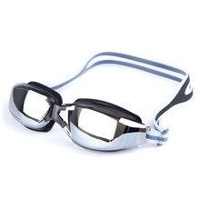 36984ef580 Electroplate óptico miopía gafas de natación receta Anti-niebla UV gafas de  natación de silicona impermeable adulto nadar gafas